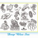 Deep Blue Sea Iron on Hand Embroidery Pattern (original design)