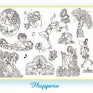 Flappers Iron on Hand Embroidery Pattern (original design)