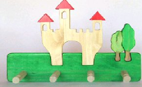C112050902 - Children's Clothes Rack - Castle