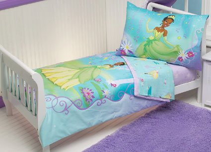 Princess And The Frog 4 Pc Toddler Bed Bedding Set New