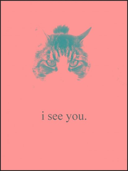 "i see u. Poster: 12"" X 18"""