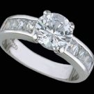 RS Covenant Engagement-Wedding Sterling Silver Ring #4150