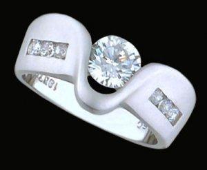 Ladies Cubic Zirconia Fashion Ring #369