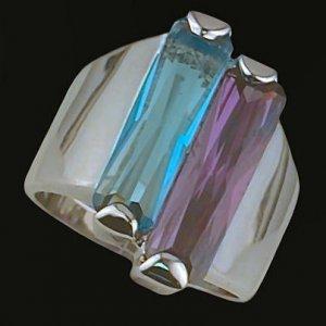 Ladies Cubic Zirconia Fashion Ring #424