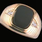 Gentleman's Genuine Onyx Fashion Ring #2098