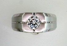 Gentleman's Cubic Zirconia Fashion Ring #2299
