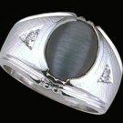 Gentleman's Black Cat's Eye Fashion Ring #2244