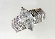 Lds Cubic Zirconia Fashion Ring #607