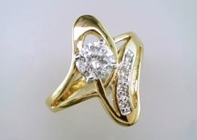 Lds Cubic Zirconia Fashion Ring #672