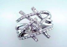 Lds Cubic Zirconia Fashion Ring #695