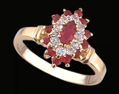 Lds Cubic Zirconia Fashion Ring #1276