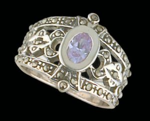 Lds Sterling Silver Ring #4043