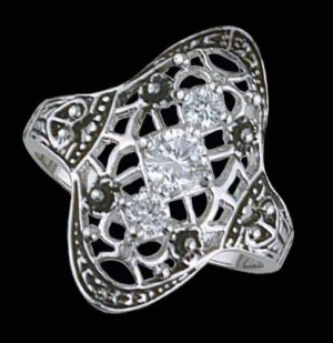 Lds Sterling Silver Ring #4153