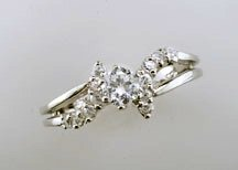 Lds Sterling Silver Ring #4447
