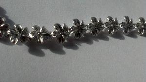 CZ Plumeria Tennis Bracelet #7631