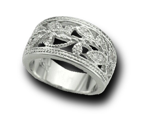 Lds Cubic Zirconia Fashion Ring #721