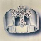 S/CZ Cross Ring #836