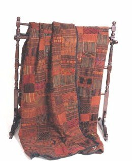 Rust / Terracotta Guatemalan Patchwork Quilt! King Size