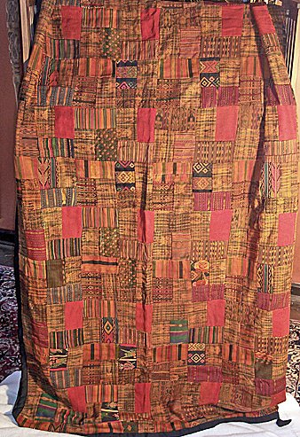 Red & Earth TonesGuatemalan Patchwork Quilts queen size
