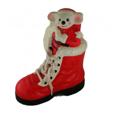 Enesco Santa Mouse in Shoe Bank VINTAGE CHRISTMAS Ceramic Taiwan