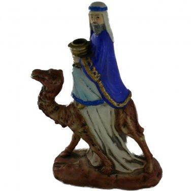 Wise Man on Camel Candleholder VINTAGE NATIVITY Composition