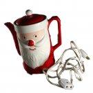 Hand Painted Japan Vintage Christmas Santa Electric Hot Pot, Tea,Coffee