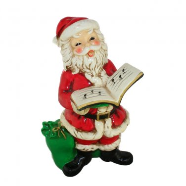 Josef Originals Vintage Christmas Santa Singing Figurine-Composition-Made in Japan 8 Inches Tall