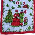 Christmas Linen Towel-VINTAGE Noel Carolers 15 x 27
