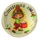 Decorative Hand Painted Tole Wood Plate 1981 VINTAGE Little Drummer Boy
