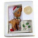 Jasco Little Reindeer Christmas Candleholder Figurine