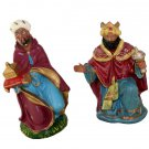 2 Wales Made in Japan  Nativity Hand Painted Composition Kneeling Wise Men Figurines