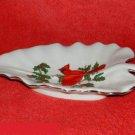 Lefton Cardinal Leaf Shaped Dish