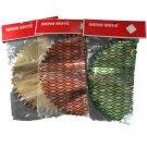 Shiny Brite Metallic Honeycomb 6 In Orbs Bundle of 3