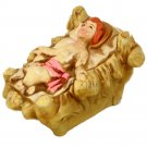 Aardco Baby Jesus Composition Figure Nativity Made in Japan Hand Painted Figurine 4 x 5 x 3 inches