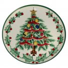 Lefton Mid-Century Handpainted Christmas Plate 1957 8-1/4 Inch