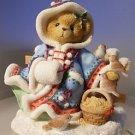 "Cherished Teddies ""Irmgard"" Winter Bear Christmas Figurine #706728"