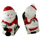 Mr & Mrs Santa Rocking Chair Vintage Ceramic Salt & Pepper Set 3-1/2 Inches