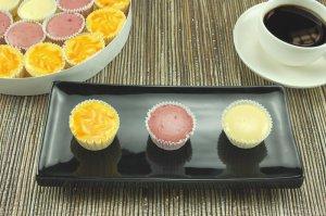 Bite Size Cheesecake Truffles -Mango, Raspberry Swirl, New York
