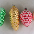 4 Pine Cone,Grape Ornaments-VINTAGE ORNAMENT-WGermany