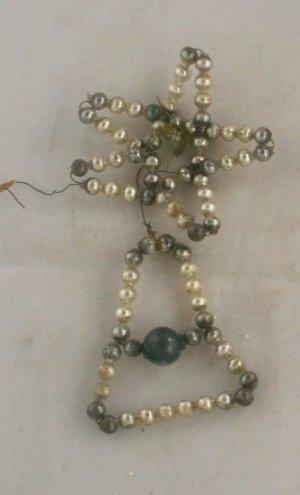 30s Czech Bead Ornament-VINTAGE ORNAMENT-Star,Bell