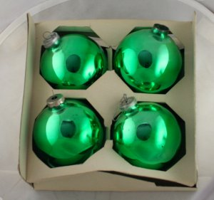 Shiny Brite 60/70s 3 Inch Glass Ornaments VINTAGE OB