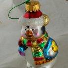 Glittered Penguin Glass Figural Ornament -NB No Marks
