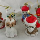 Lil Chimers Ornament-Set of 6-Bisque VINTAGE ORNAMENT