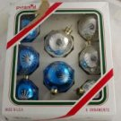 Pyramid Rauch 8 Glass Ornaments VINTAGE OB