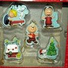 Hallmark Seasons Peanuts 5 Piece 2011 Christmas Tree Ornament Set