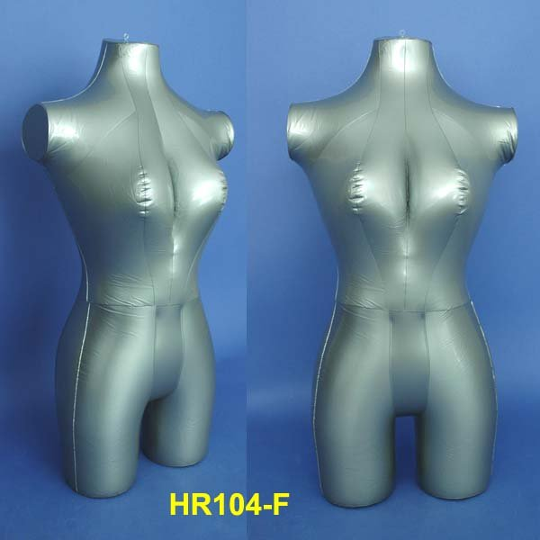 Silver Female Inflatable 3/4 Torso Mannequin HR104-F