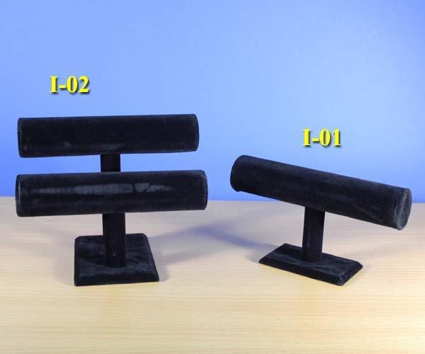 Brand New1 & 2 Tier Black Velvet Jewelry Display T-Bar