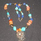 FREE SHIPPING EGYPTION BEADED NECKLACE WITH CUTE DIFFERENT STONES