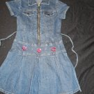 FREE  SHIPPING ONE CUTE JEANS DRESS WITH STRASS SUMMER GIRLS DRESS