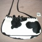FREE SHIPPING NEW WOMAN GIRLS  HANDBAGS BAGS PURSES WHITE AND BLACK BAG